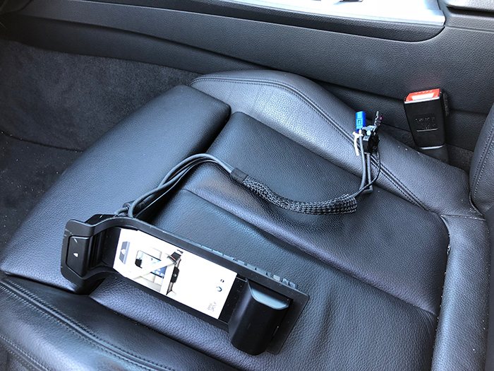 Removing the BMW phone cradle and using the USB it frees up